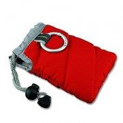 红色棉布锁口袋