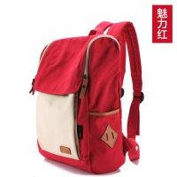 红色帆布包